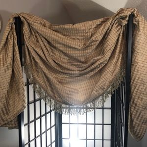 One pair of scarf valance window treatments
